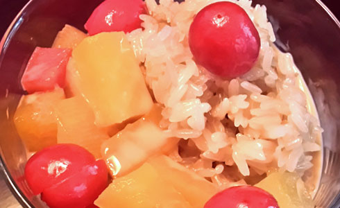 Sticky Rice and Fruit Pudding